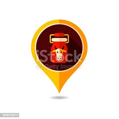 Can Container For Milk Vector Pin Map Icon Stock Vector Art More