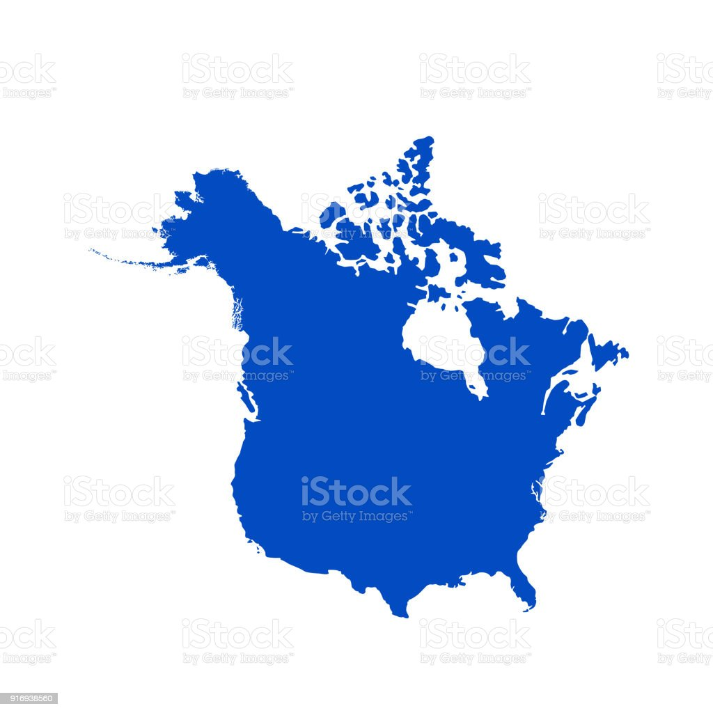 canada and usa map royalty free canada and usa map stock vector art
