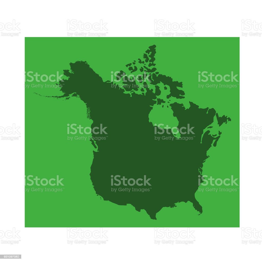 canada and usa map stock vector art more images of canada canada and usa map vector