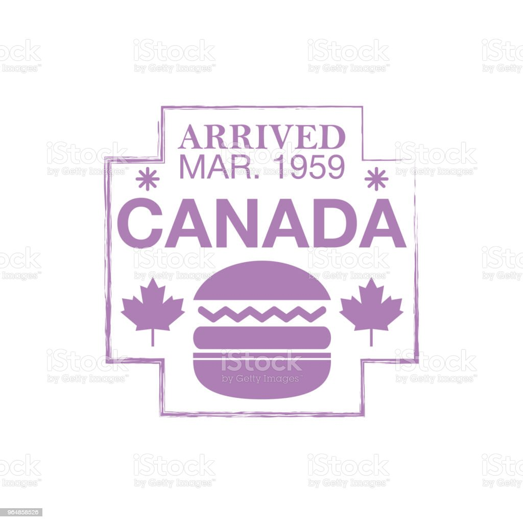 Canada arrival ink stamp on passport. royalty-free canada arrival ink stamp on passport stock vector art & more images of absence