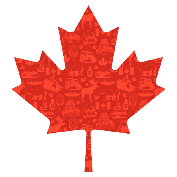 stockillustraties, clipart, cartoons en iconen met canada achtergrondontwerp. - canada