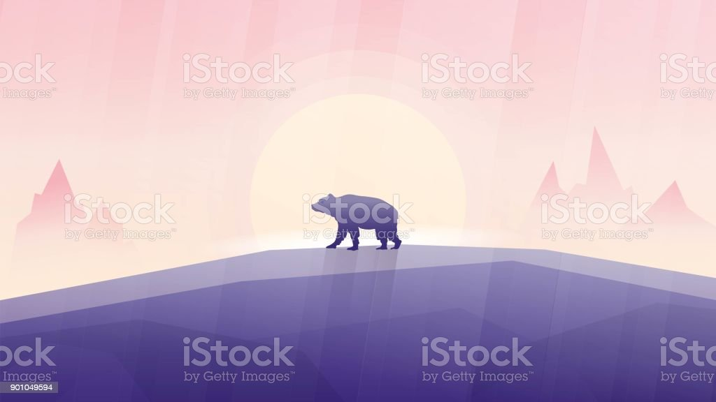 Canada bear vector art illustration