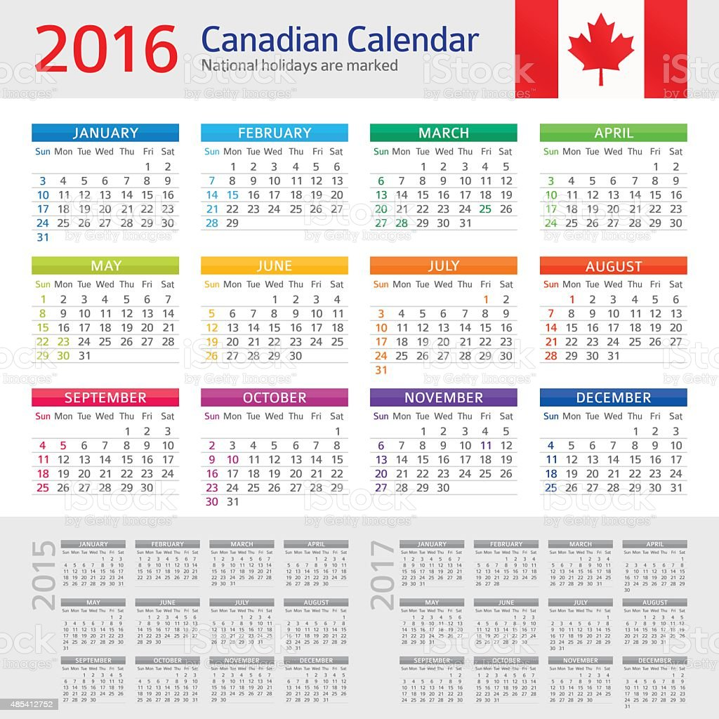 canada calendar 2016 stock vector art more images of 2015