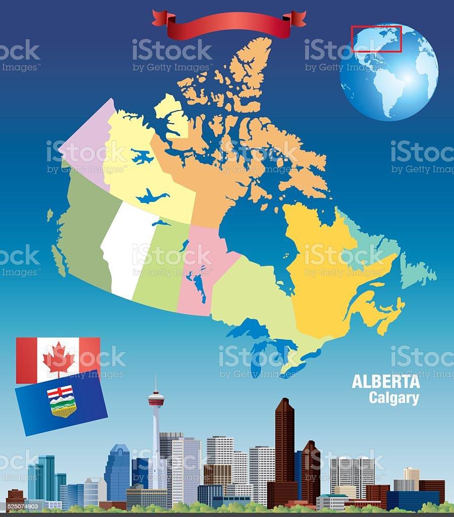 Canada Calgary vector art illustration