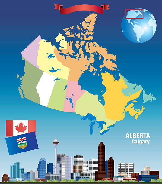 Canada Calgary vector art illustration