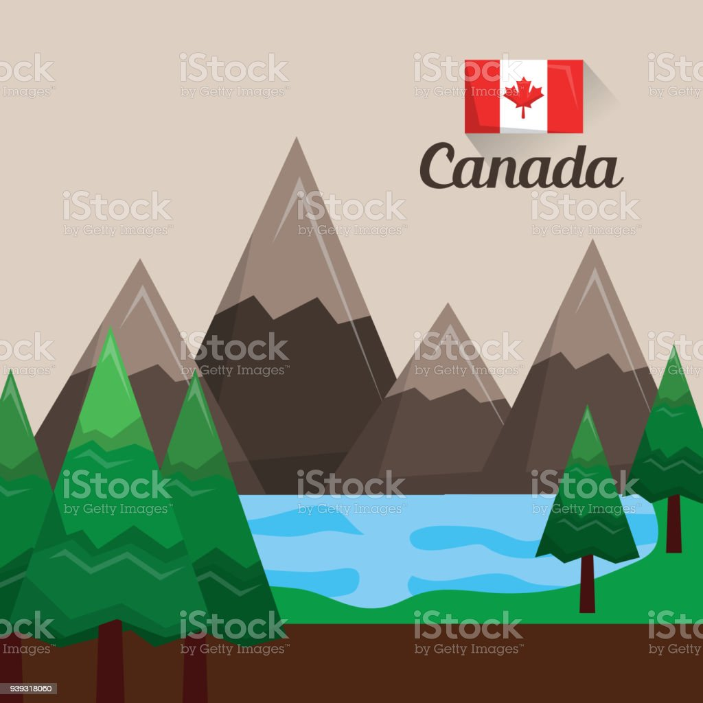 canada country american vector art illustration