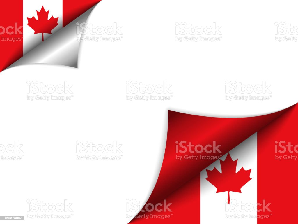 Canada Country Flag Turning Page vector art illustration