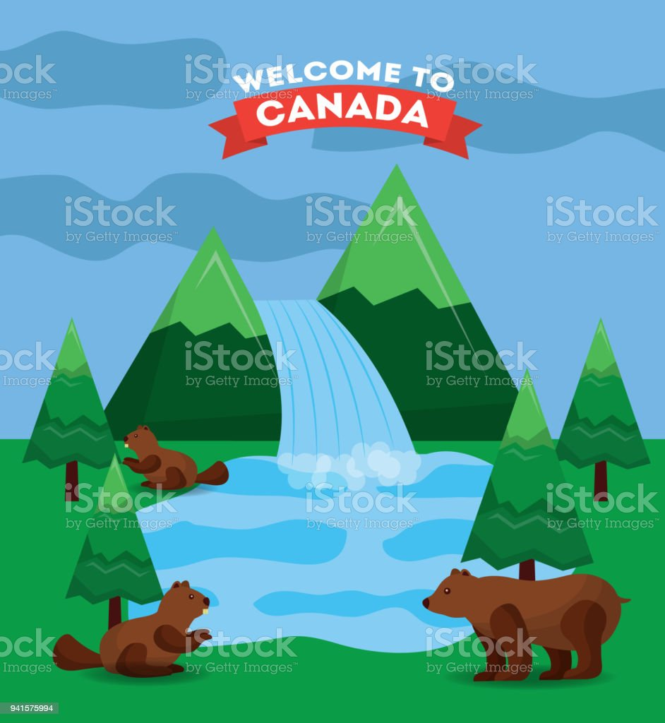 Canada Country Symbols Stock Vector Art More Images Of Alberta