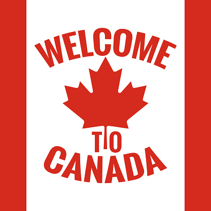 Canada Country Welcome Sign Canada Flag Design Stock ...