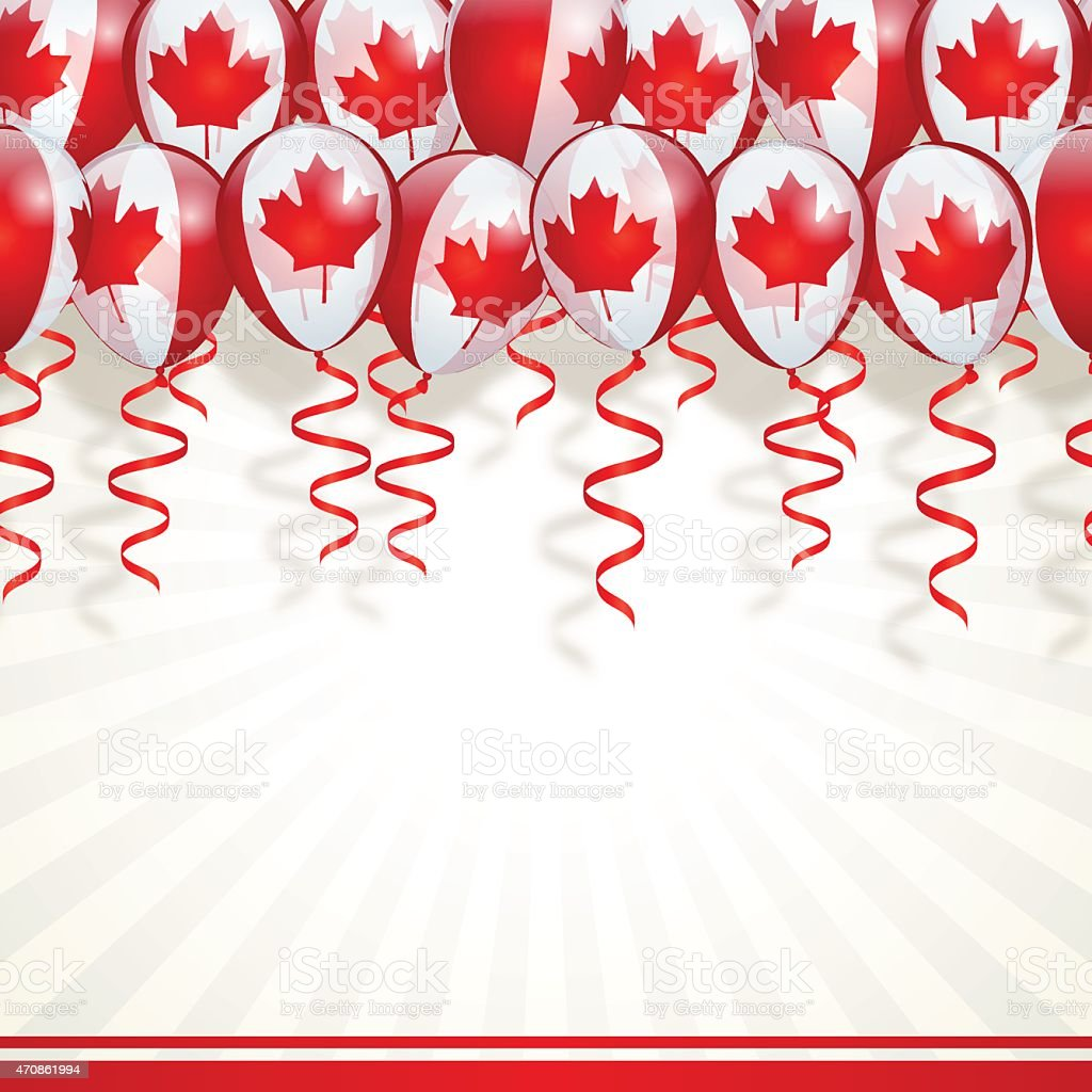 Canada Day Backgroundmaple Leaf Balloons Stock Vector Art ...