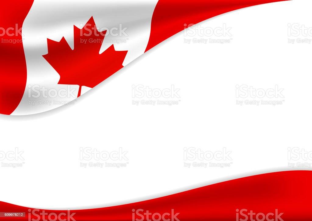 Kanada Tag Banner Hintergrund-Design der Flagge mit Kopie Raum-Vektor-illustration – Vektorgrafik
