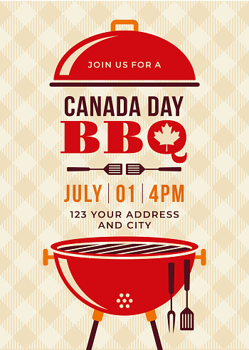Canada Day BBQ Party Invitation.