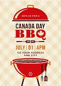 istock Canada Day BBQ Party Invitation. 1144763002