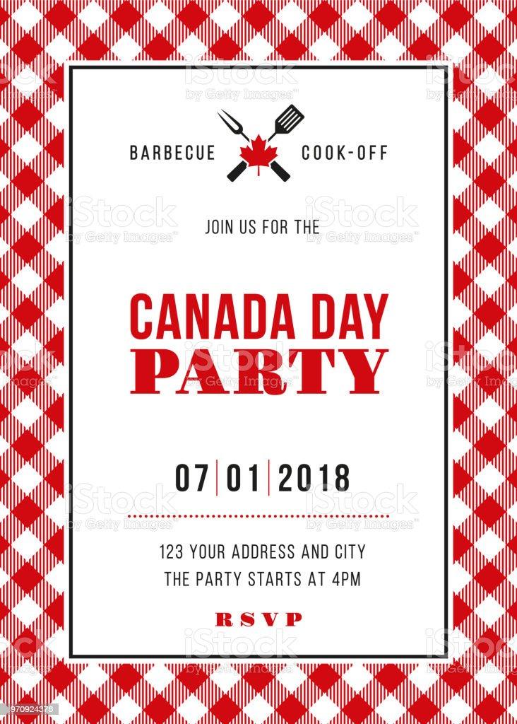 Kanada Tag Bbq Party Einladung Stock Vektor Art und mehr Bilder von ...
