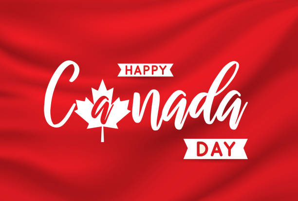 canada day card on elegant satin. vector - canada day stock illustrations
