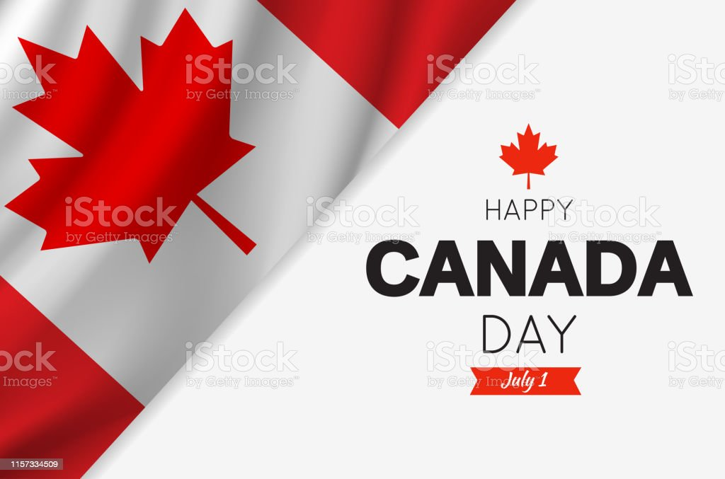 Canada Day card with Canadian flag. Vector illustration. Canada Day card with Canadian flag. Vector illustration. EPS10 Abstract stock vector