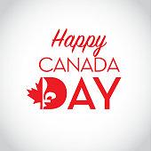 Canada Day celebration emblem design template
