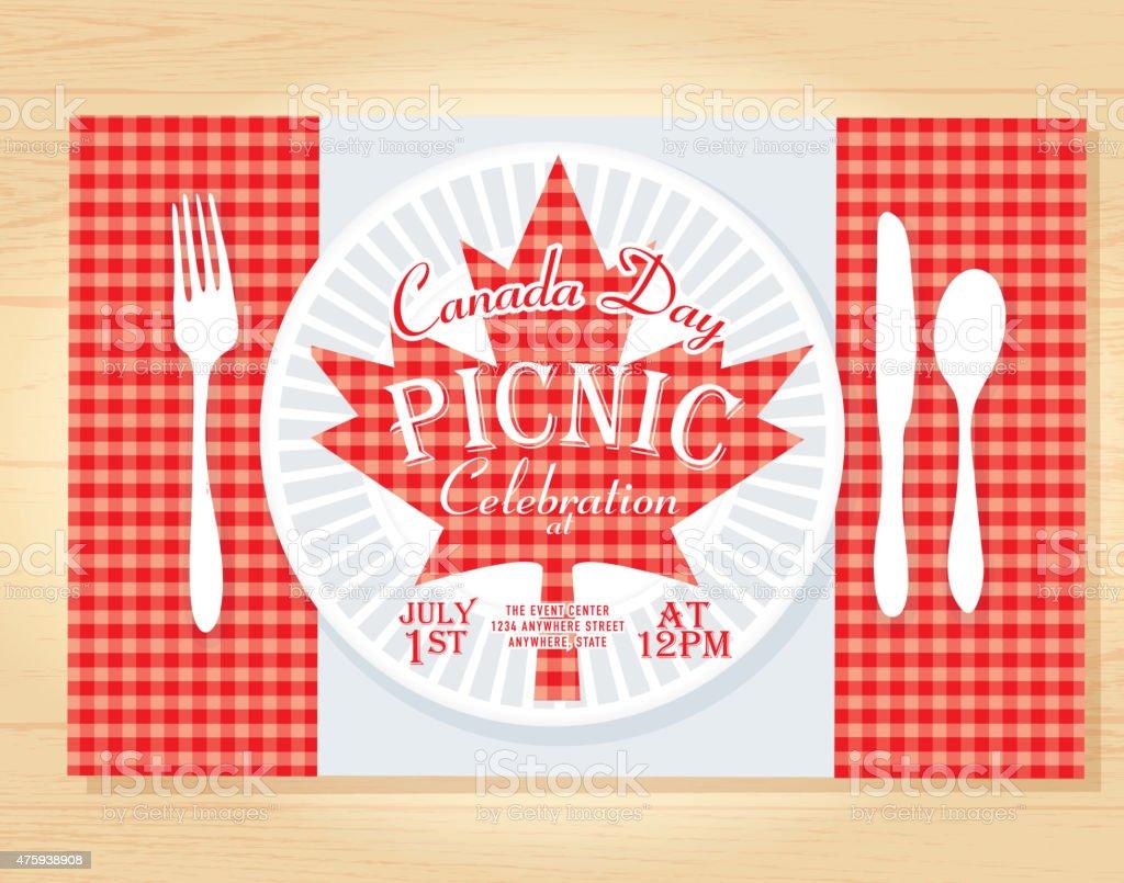 Día De Canadá Celebración De Un Picnic Diseño De Plantilla De La ...