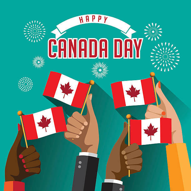 canada day design - canada day stock illustrations
