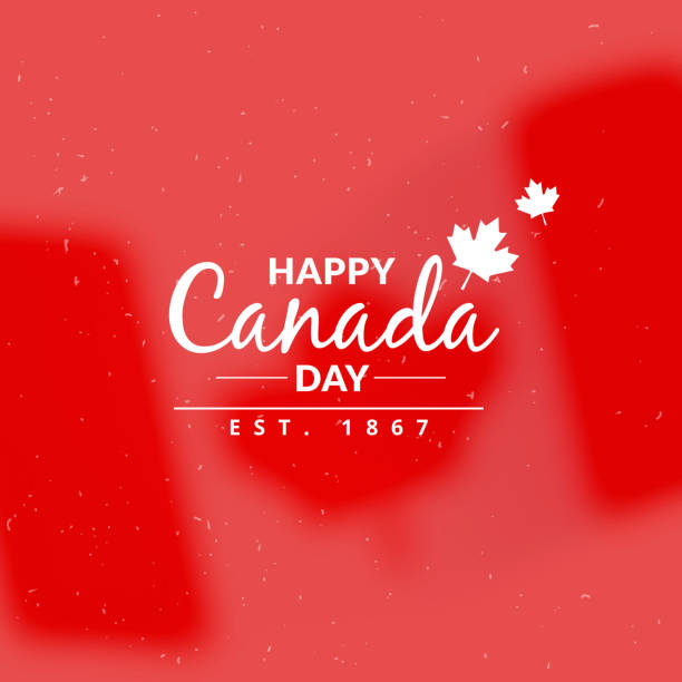 canada day greeting background - canada day stock illustrations