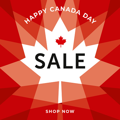 Canada Day Sale special offer template for business, promotion and advertising