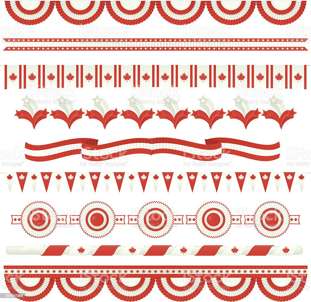 Canada Day (Design Elements) royalty-free canada day stock vector art & more images of bunting