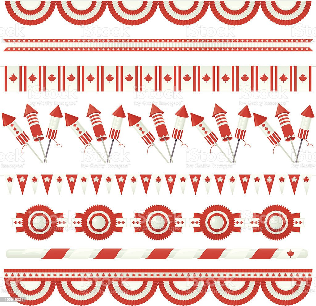 Canada Day (Design Elements) royalty-free stock vector art