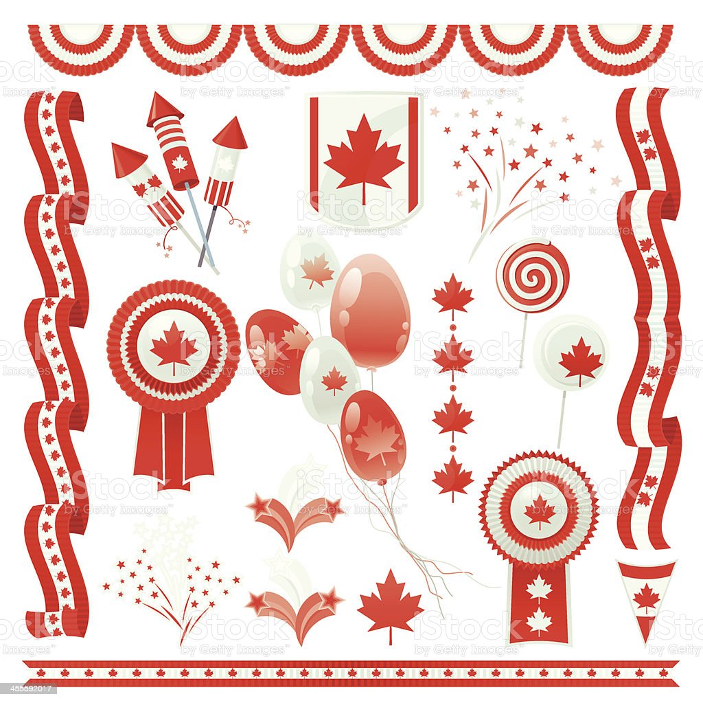 Canada Day (Design Elements) vector art illustration