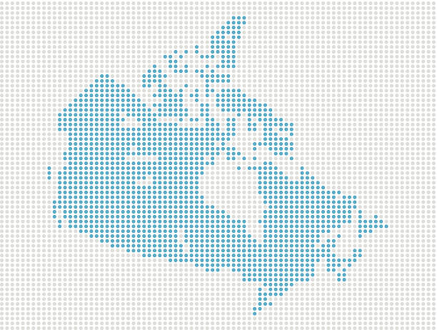 Canada dotted map Vector dotted map of Canada quebec stock illustrations