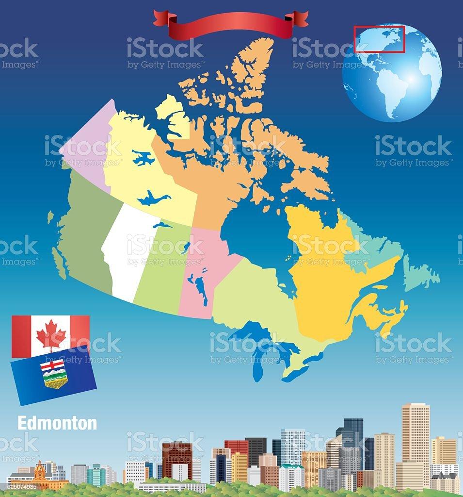 Canada Edmonton vector art illustration