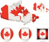 Canada flag and map assets