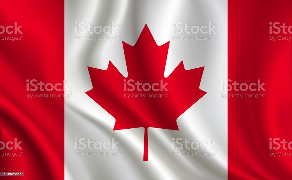 Canada flag background vector art illustration