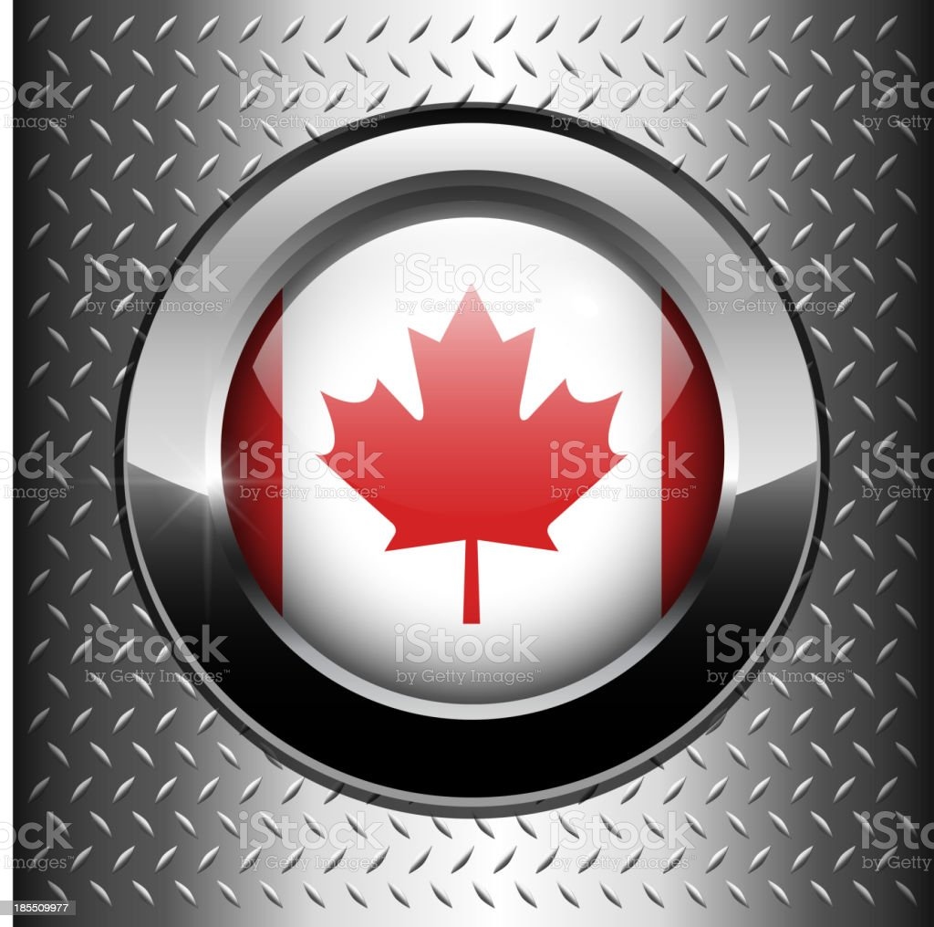 Canada flag button royalty-free stock vector art