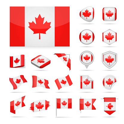 Canada - Flag Icon Glossy Vector Set