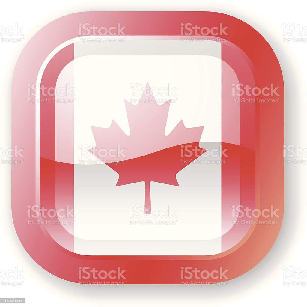 Canada Flag Icon royalty-free canada flag icon stock vector art & more images of canada