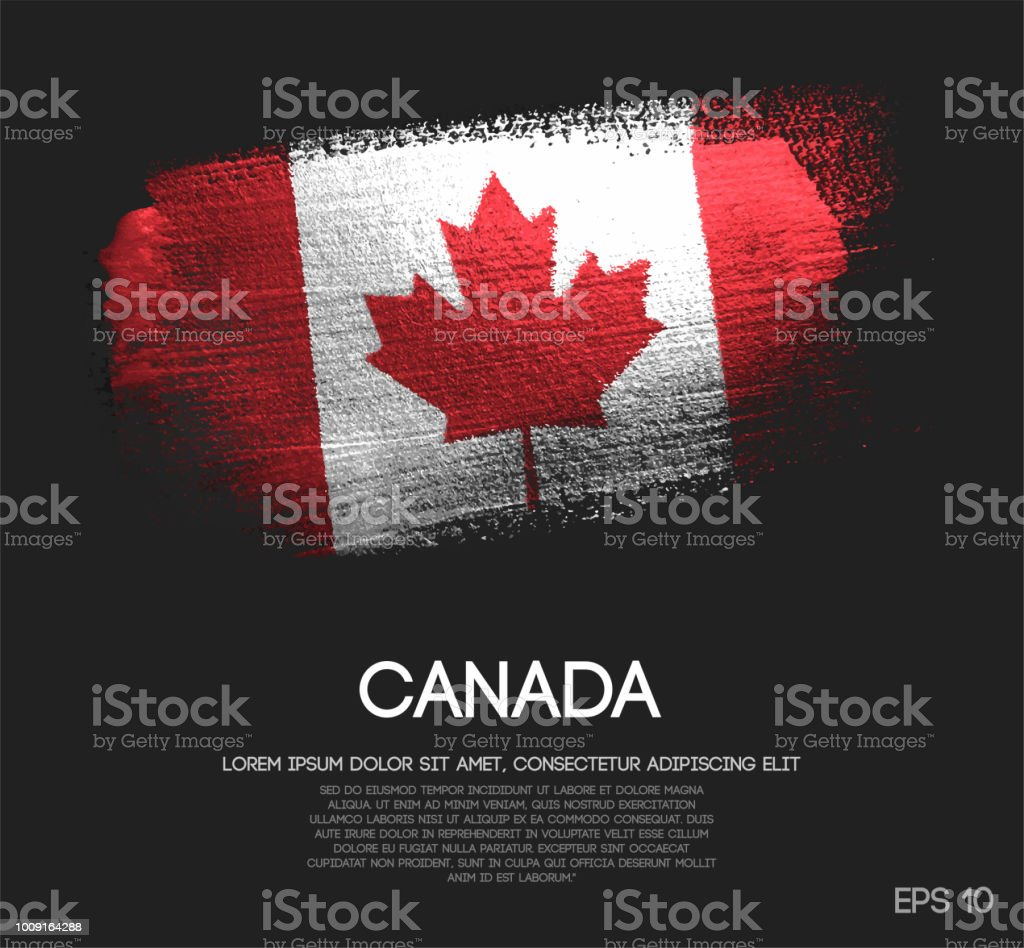 Canada Flag Made of Glitter Sparkle Brush Paint Vector vector art illustration