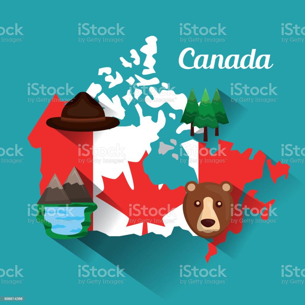 Kanadaflaggekartedenkmal Stock Vektor Art und mehr Bilder von Ahorn ...
