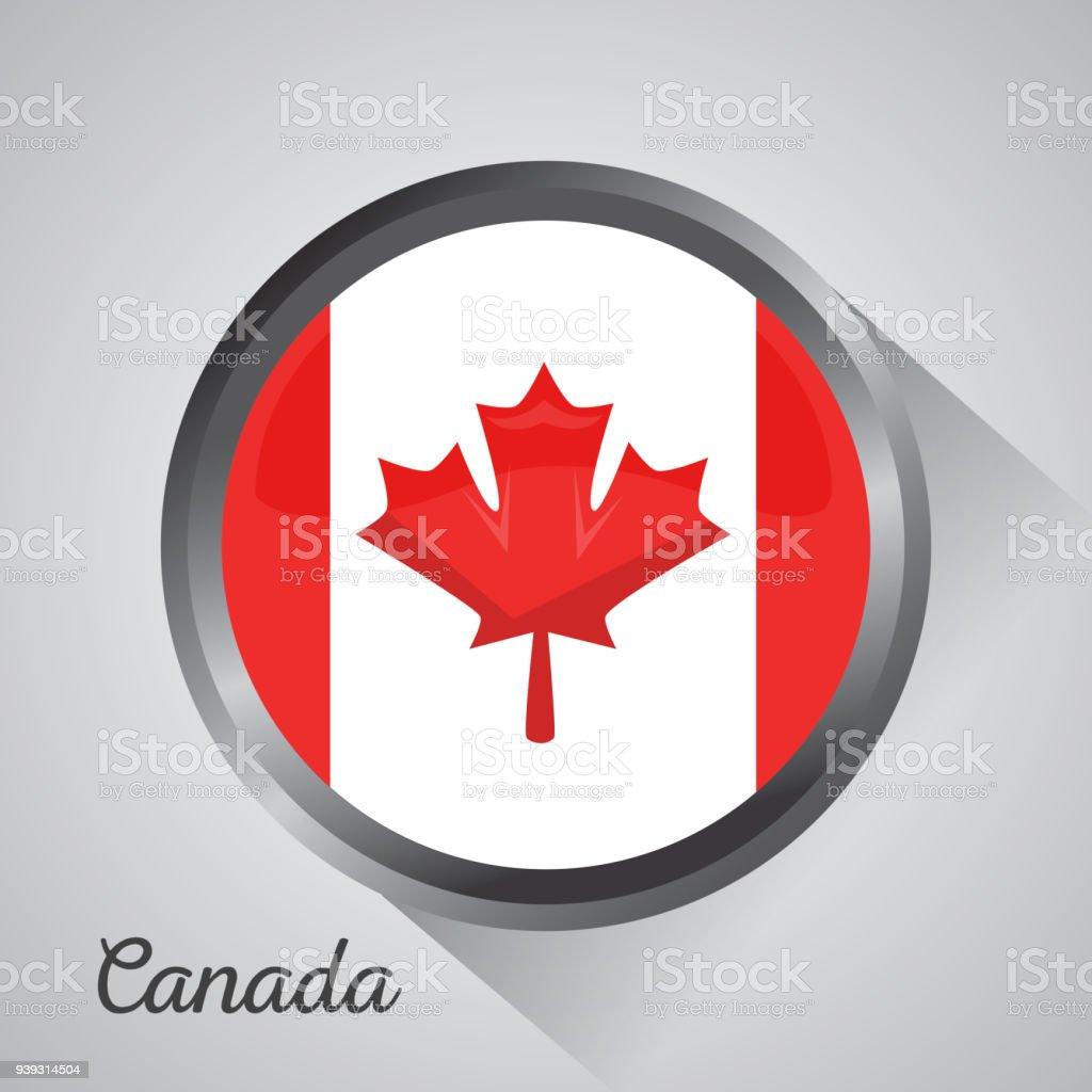 Monumento De Mapa De La Bandera De Canadá - Arte vectorial de ...
