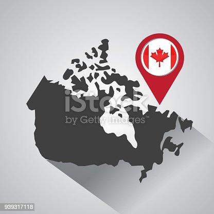 istock canada flag map monument 939317118