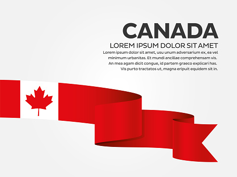 Canada Flag On A White Background Stock Illustration - Download Image Now