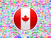 Canada Flag on Colorful People Icon Pattern