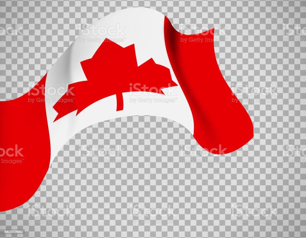 Ilustración de Bandera De Canadá Sobre Fondo Transparente y más ...