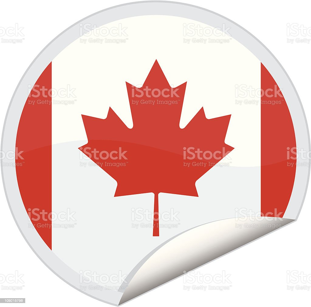 canada flag royalty-free stock vector art