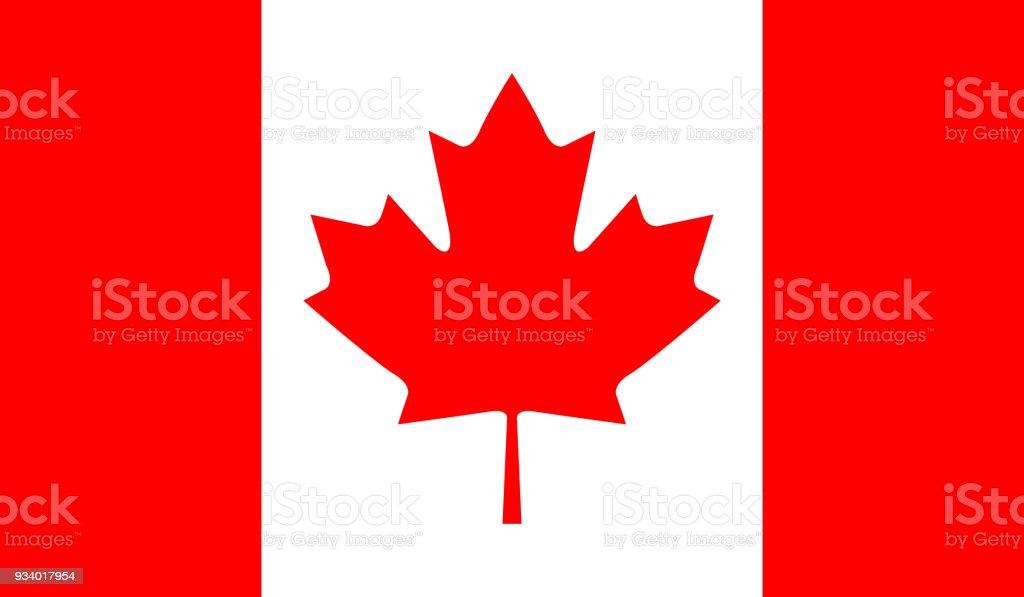 Canada flag Canada national flag Abstract stock vector