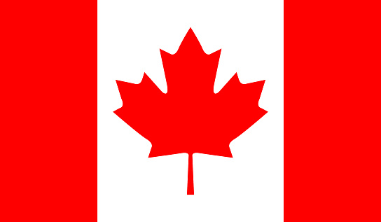 Canada Flag Stock Illustration - Download Image Now