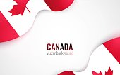 Canada flags isolated on white. Canada day abstract background. Vector illustration