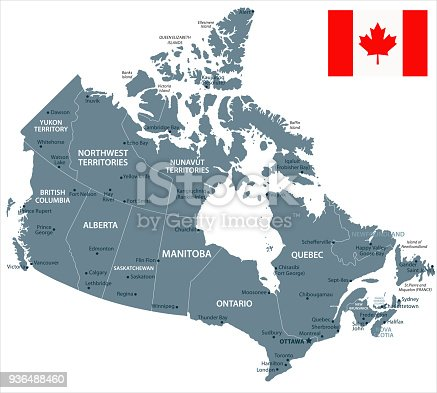 Map of Canada - Vector illustration