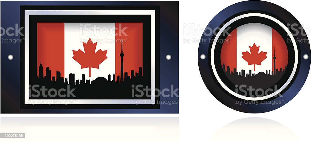 Canada Icon royalty-free stock vector art