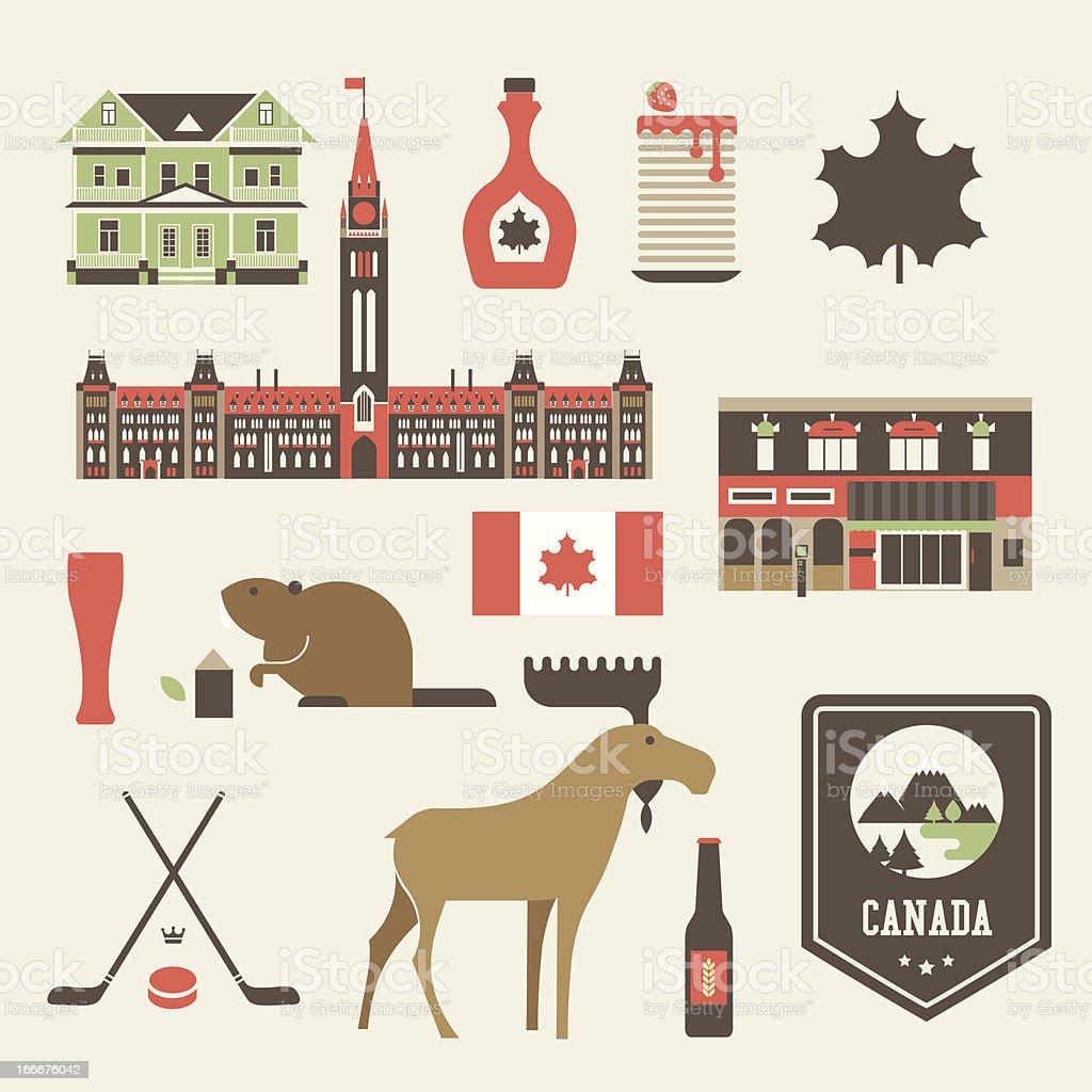 canada icons royalty-free stock vector art