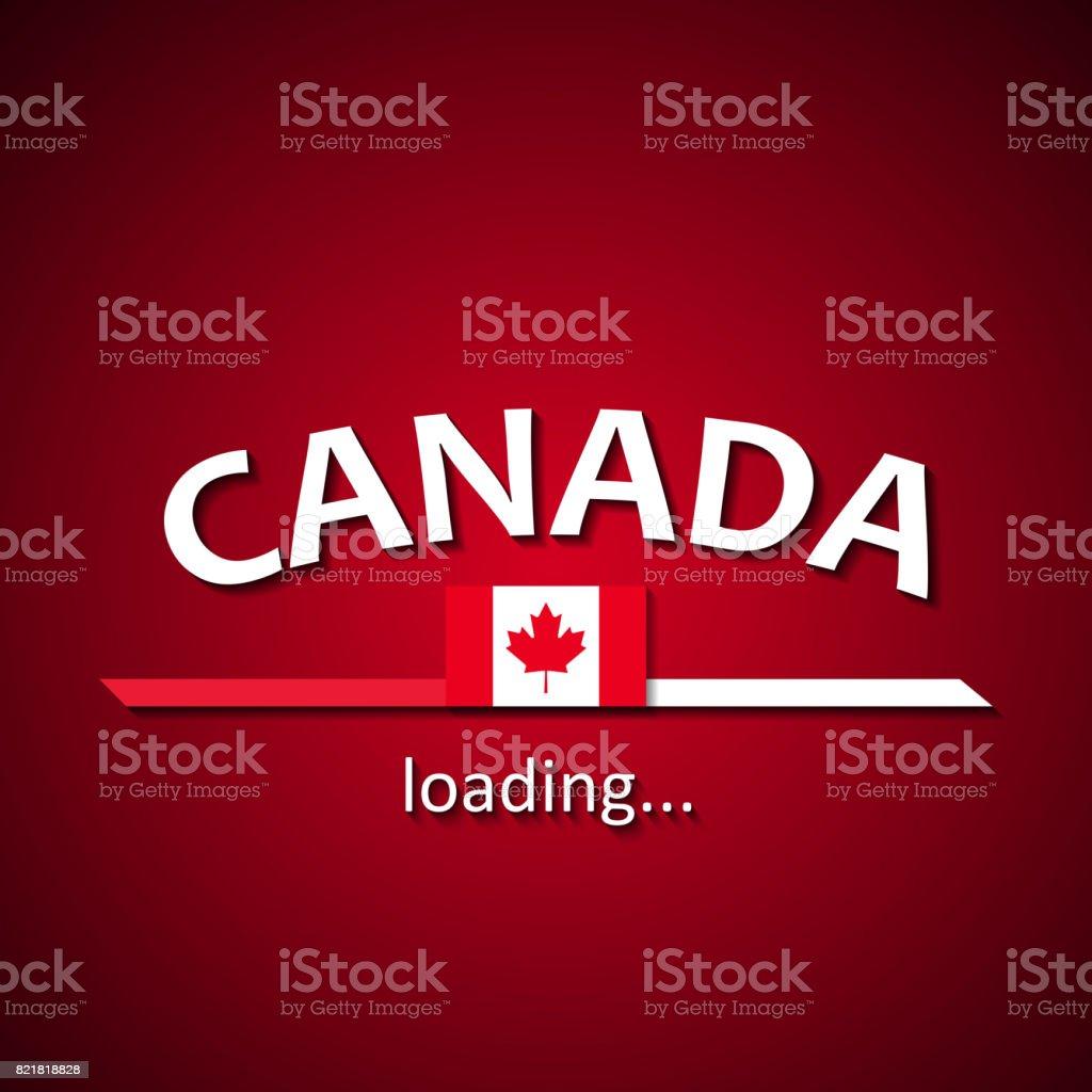 Canadá Está Cargando Inscripción De Bandera Canadiense Divertido ...